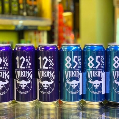 Bia Viiking Strong Lager 12%