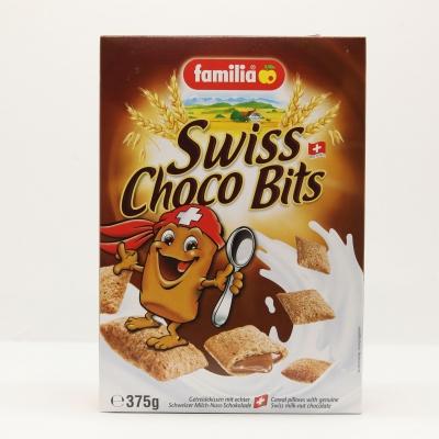Ngũ cốc nhân sô cô la cho trẻ em Swiss Choco Bits hiệu Familia 375gr