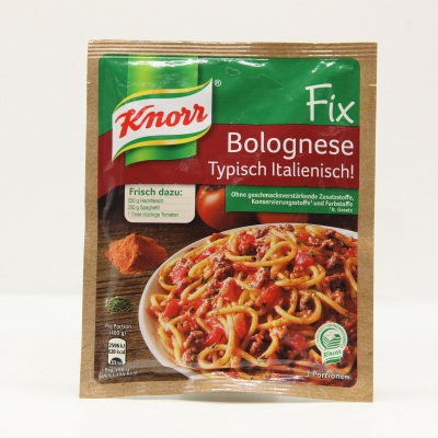 Sốt Knorr Fix Bolognese Typisch Italienisch dạng bột